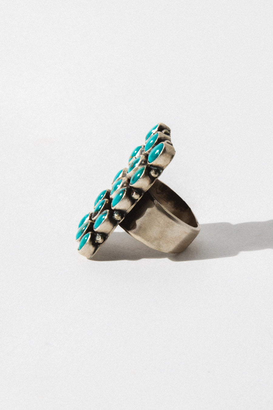 Sunwest Jewelry Silver / US 6.5 Blue Daisy Native American Ring