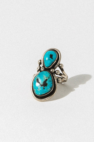 Child of Wild Jewelry US 5 / Sterling Silver / Turquoise Sahale Native American Ring