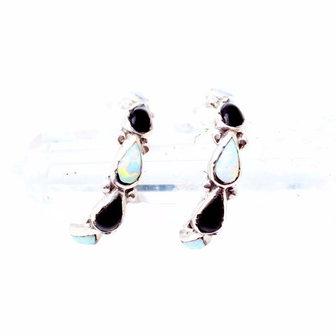 Opalescent Vintage Hoop Earrings - Child of Wild  - 1