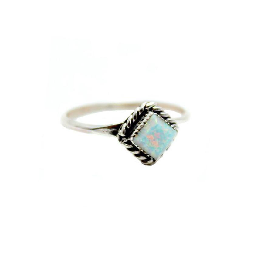 Thunderbird Jewelry Jewelry Rain Drop Navajo Opal Ring