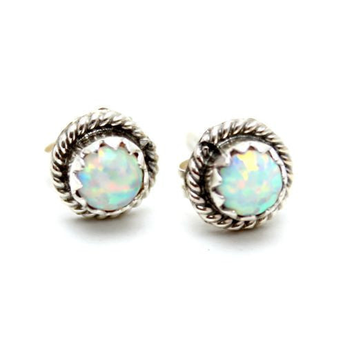Rainstorm Opal Stud Earrings - Child of Wild  - 2