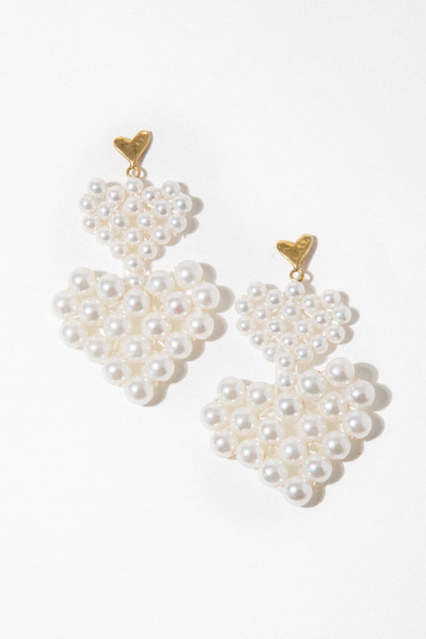 Luiny Jewelry Pearl Lola Earrings
