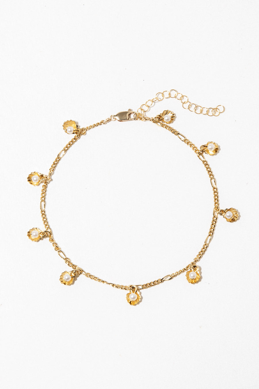 Goddess Jewelry Gold Pinnidea Anklet