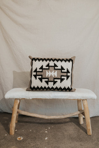Zapotec Objects Grey / FINAL SALE Zapotec Large Pillow