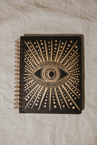 the rainbow vision Objects Black / FINAL SALE Black Seeing Eye Open-Dated Planner
