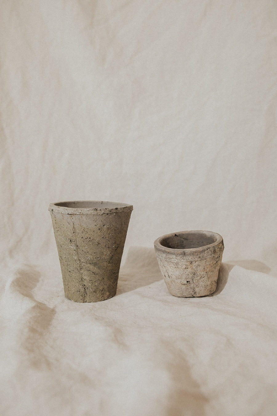 Homart Objects Moss Grey Rustic Terracotta Pots