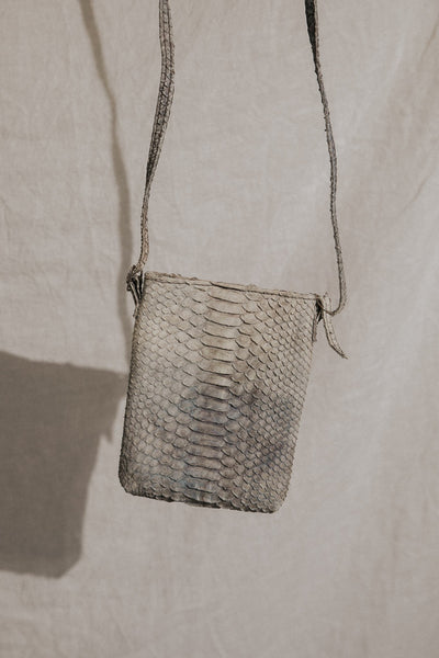 Bali Objects Grey / FINAL SALE Python Leather Crossbody Bag