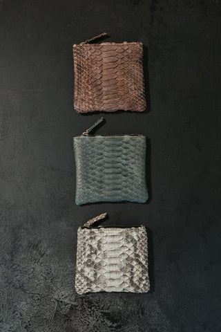 Bali Objects Python Leather Wallets