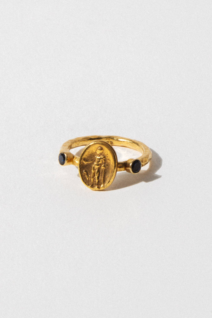 CAPRIXUS Jewelry Byzantine Coin Ring