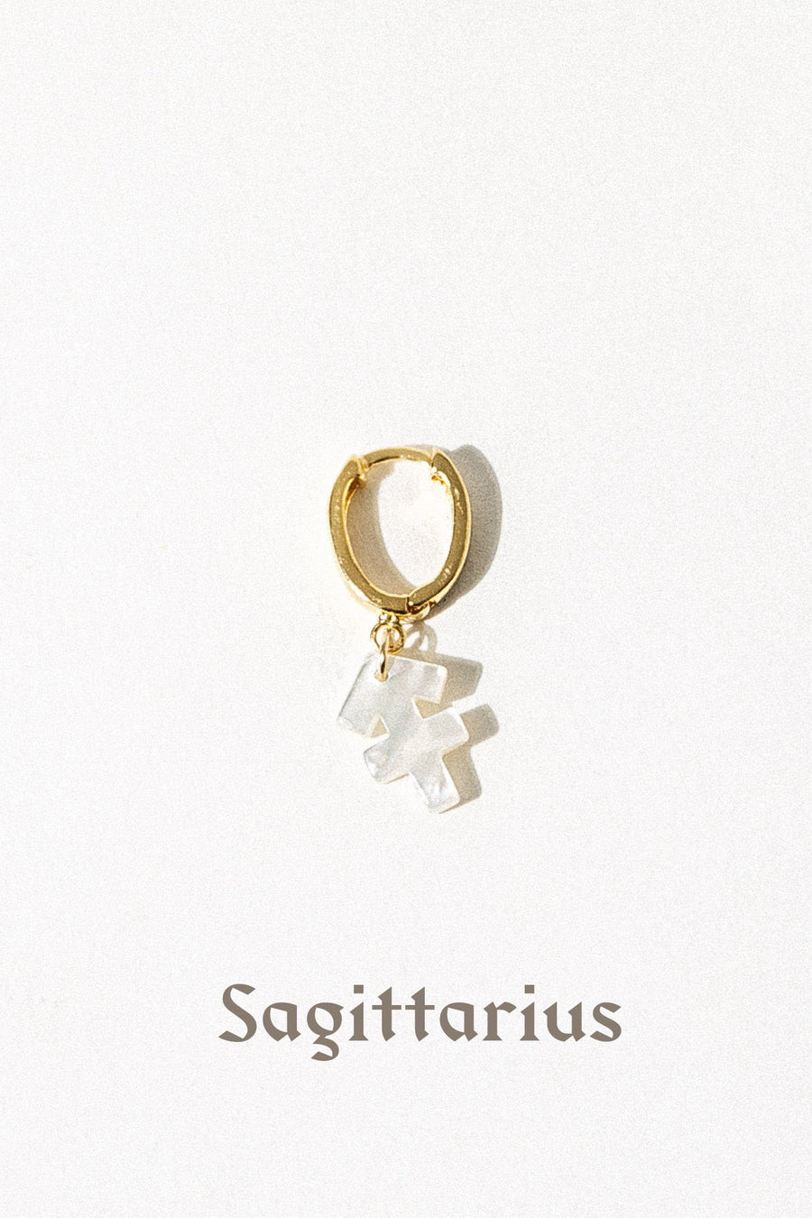 CGM Jewelry Mother of Pearl Zodiac Earring
