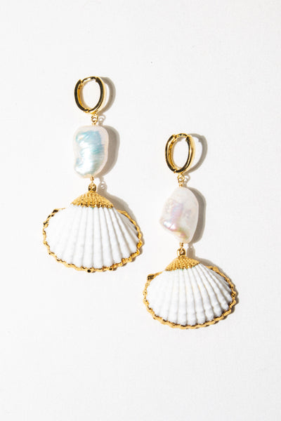 CGM Jewelry Gold Pomona Baroque Earrings