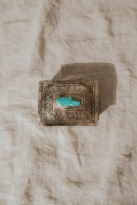 J. Alexander Objects Silver / FINAL SALE Petite Turquoise Keepsake Box