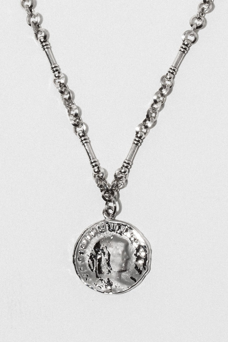 Goddess Jewelry Silver / 20 Inches Roma Coin Necklace