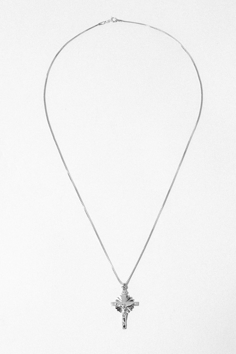 Gempacked Jewelry 20 Inches / Silver Calvary Necklace
