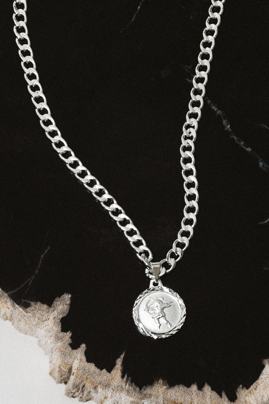 Dona Italia Jewelry Silver / 18 Inches The Cupid Necklace