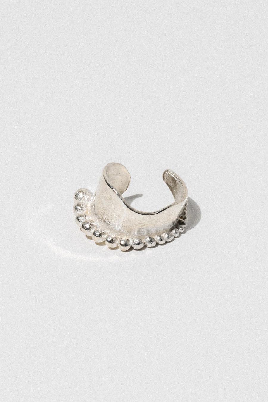 Aziza Handcrafted Jewelry Open Size / Silver Nazil Ring