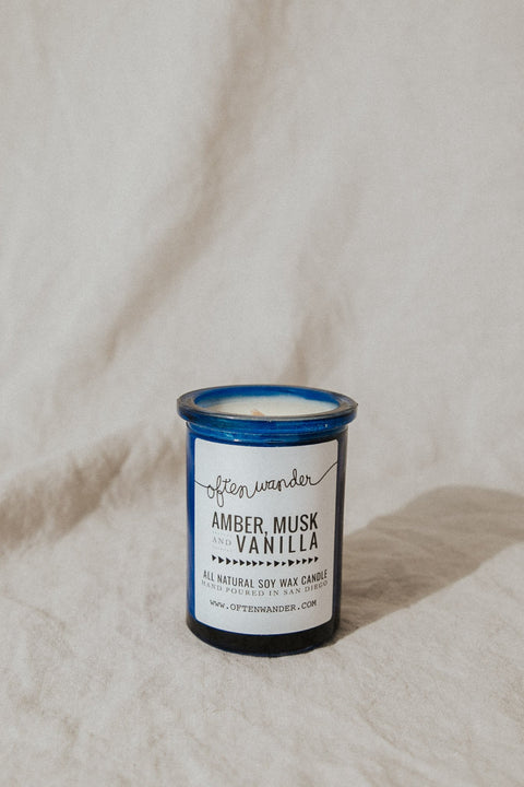 Often Wander Objects 6 oz / Amber, Musk, & Vanilla / FINAL SALE Amber, Musk, & Vanilla Apothecary Candle