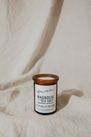 Often Wander Objects 6 oz / Magnolia & Sea Sale / FINAL SALE Magnolia & Sea Salt Apothecary Candle