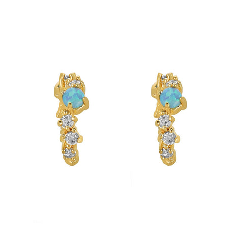 Melinda Maria Jewelry Gold Stella Opal Ear Cuffs