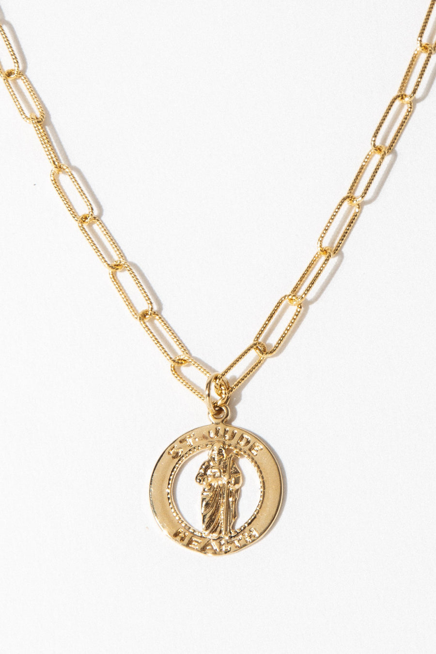 Goddess Jewelry 16 Inches / Gold St. Jude Necklace