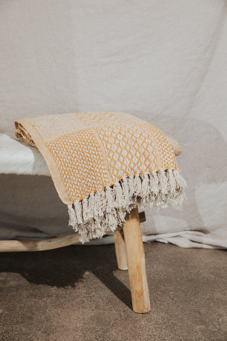 Bloomingville Objects Yellow / FINAL SALE Sunset Cotton Throw