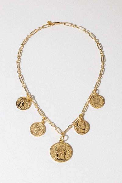 Dona Italia Jewelry Gold / 16 Inches Constantine Coin Necklace