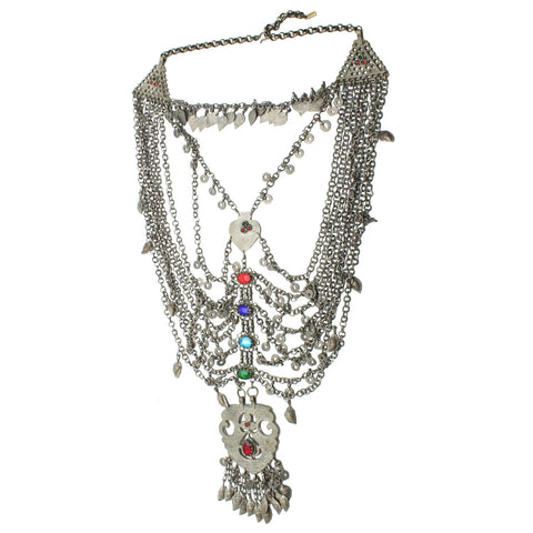 Vintage dead stock Metal Desert Drifter Vintage Statement Necklace