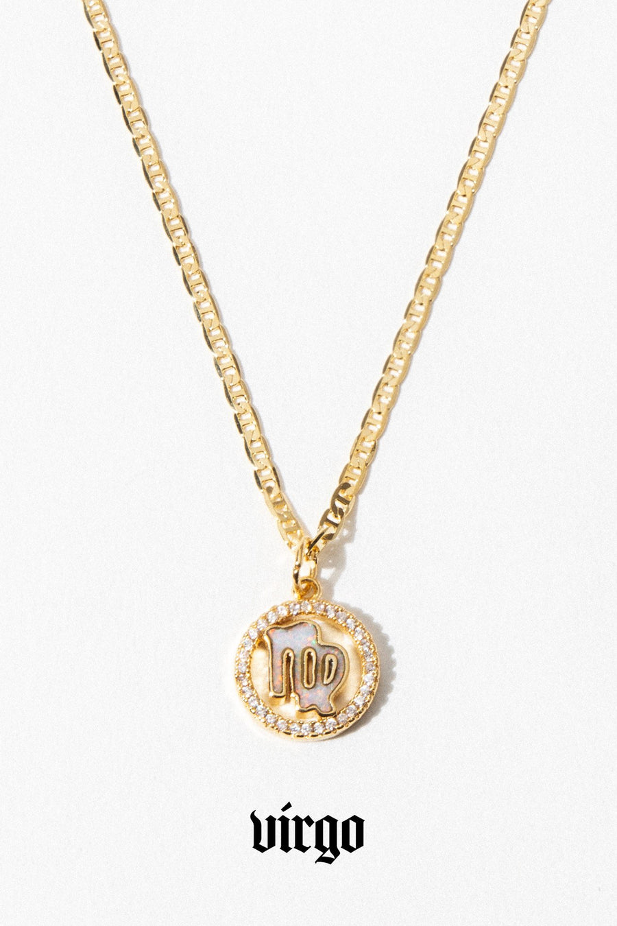 Aimvogue Jewelry Opal Zodiac Necklace