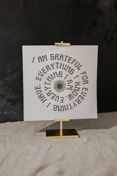 Realfunwow Objects 11 x 11 / Off-White / FINAL SALE Grateful Print