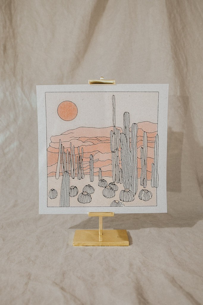 Realfunwow Objects 11 x 11 / Off-White / FINAL SALE Desert Scene Print