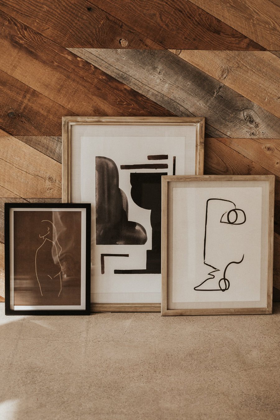 Bloomingville Objects Wood / FINAL SALE Shiro Framed Abstract Wall Art