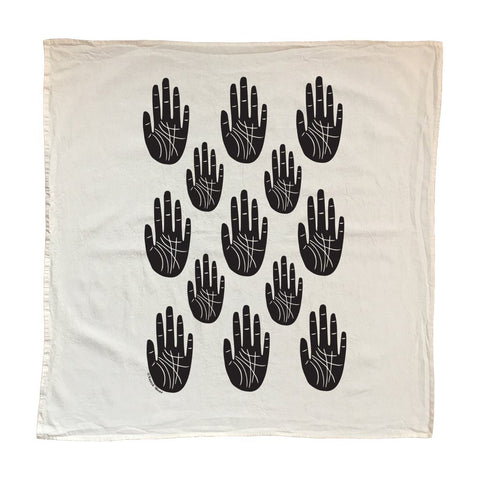 Native Bear Objects Black / FINAL SALE Wise Palm Tea Towel
