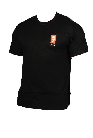 Black t-shirt with Gimono logo