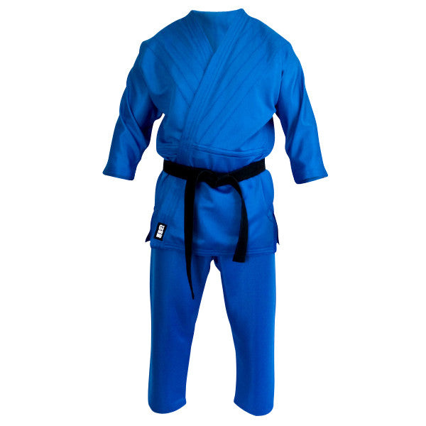 Grappling gi blue front view Gimono performance fightwear