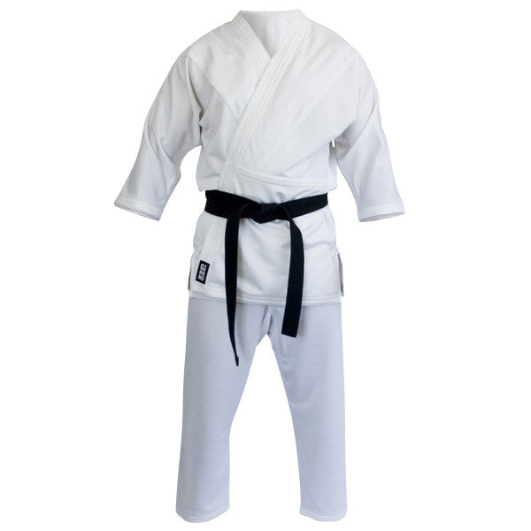 Grappling gi white front view Gimono performance fightwear