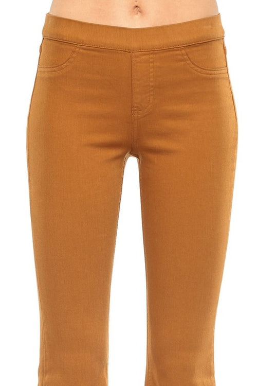 Cello Mid Rise Flare Jeggings