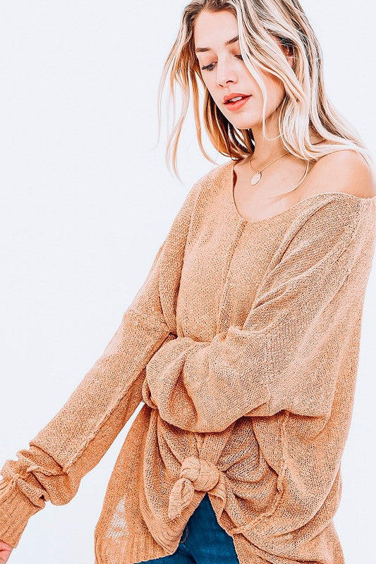 Slouchy Lightweight Knit Sweater