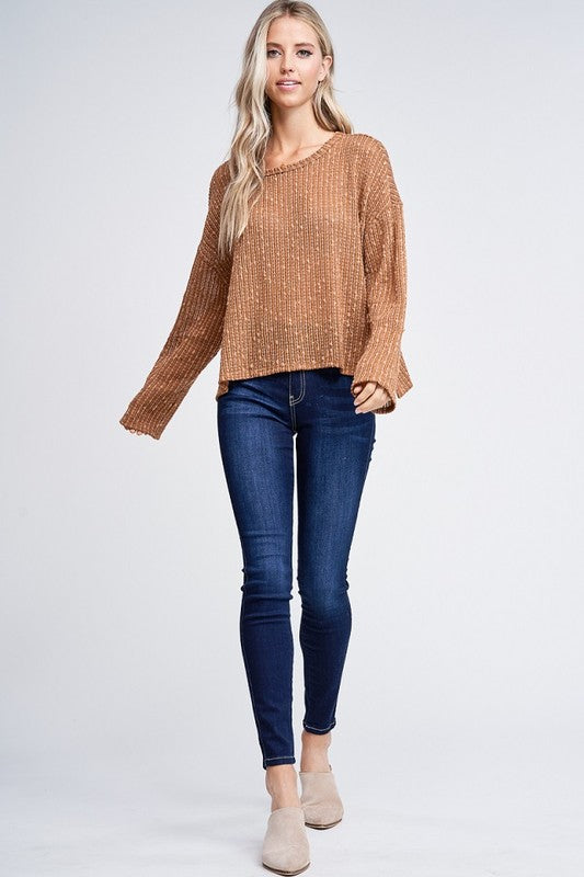 Angie Knit Sweater Top