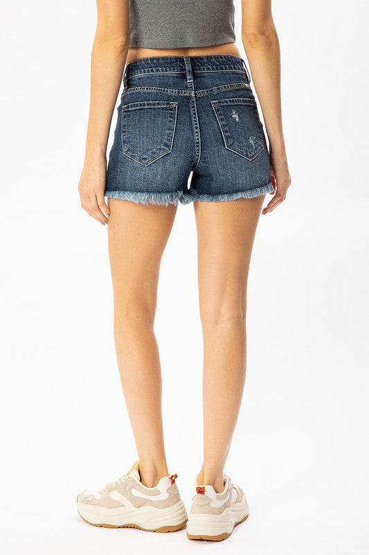 High Rise Dark Stripe Pocket Kancan Shorts
