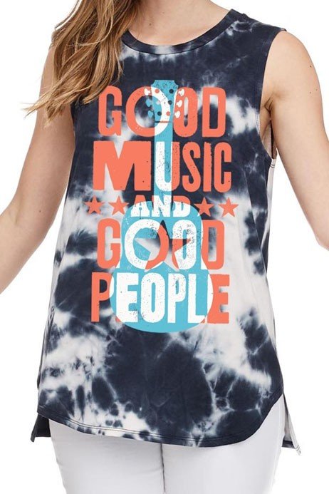Good Music & Good People Tie Dye Tank