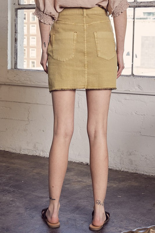 Mustard Seed Button Down Skirt
