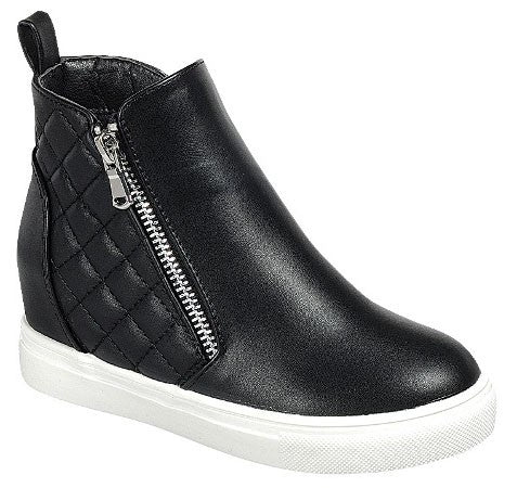 Quilted Hidden Sneaker Wedge