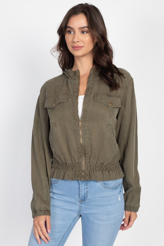 Tencel Cargo Jacket