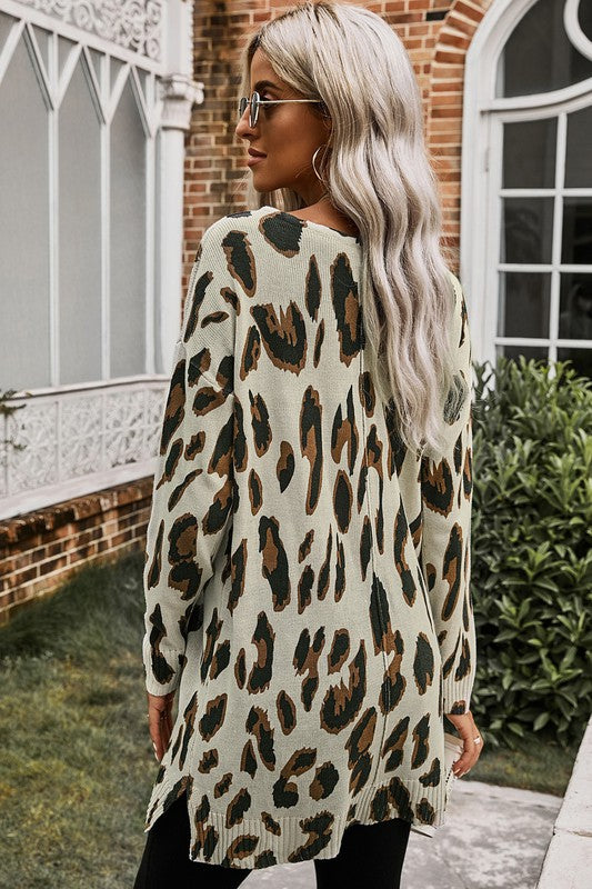 Leopard Knit Tunic
