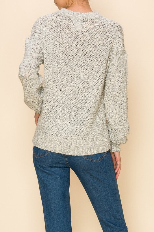 Denali Two Tone Knit Sweater