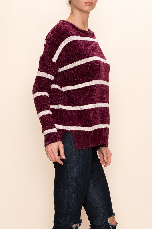 Stripe Chenille Sweater