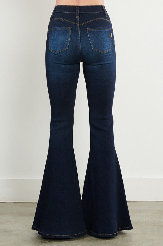 Vibrant M.I.U Dark Wash Denim Bell Bottoms