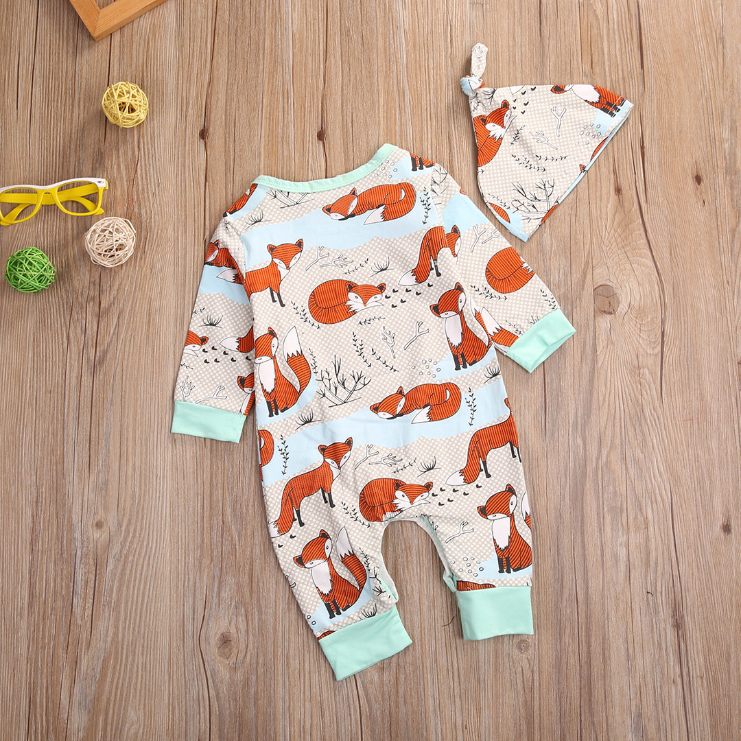 Baby Fox Jumpsuit & Hat