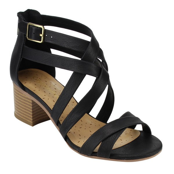 Criss Cross Heeled Sandal
