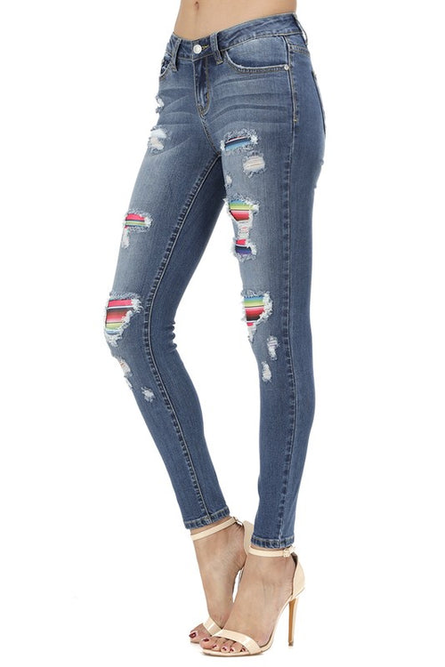 Judy Blue Serape Jeans with Patches